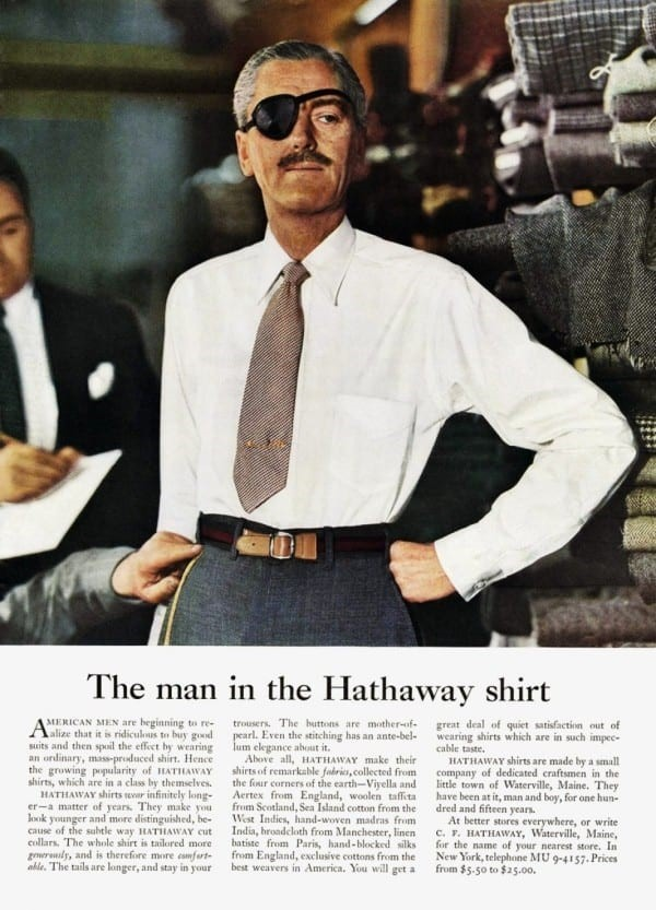 man in hathaway shirt